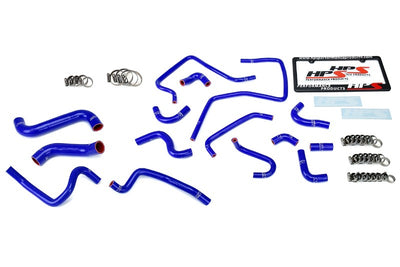 HPS Blue Silicone Radiator Heater/Ancillary Hose Kit for Subaru 02-03 Impreza WRX-Hose Kits-BuildFastCar-57-1812-BLUE