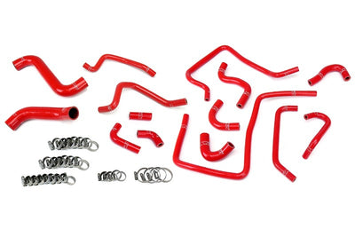 HPS Red Silicone Radiator Heater/Ancillary Hose Kit for Subaru 02-03 Impreza WRX-Hose Kits-BuildFastCar-57-1812-RED