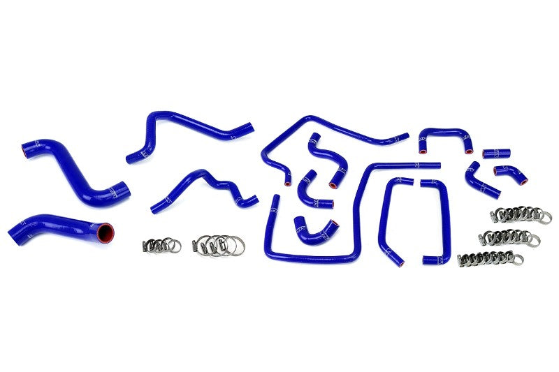 HPS Blue Silicone Radiator Heater/Ancillary Hose Kit for Subaru 05 Impreza WRX STi-Hose Kits-BuildFastCar-57-1814-BLUE-2