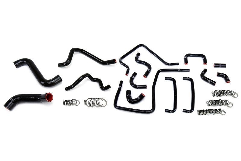 HPS Black Silicone Radiator Heater/Ancillary Hose Kit for Subaru 06-07 Impreza WRX STi-Hose Kits-BuildFastCar-57-1815-BLK-2