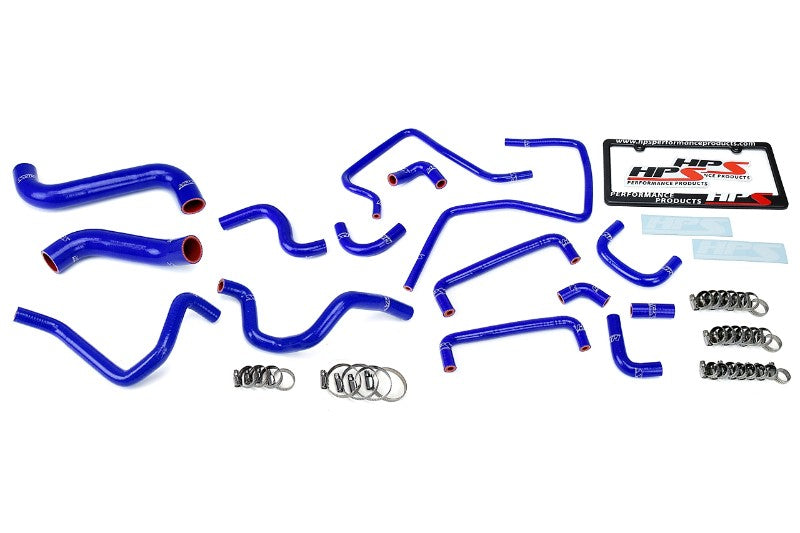 HPS Blue Silicone Radiator Heater/Ancillary Hose Kit for Subaru 06-07 Impreza WRX STi-Hose Kits-BuildFastCar-57-1815-BLUE-2