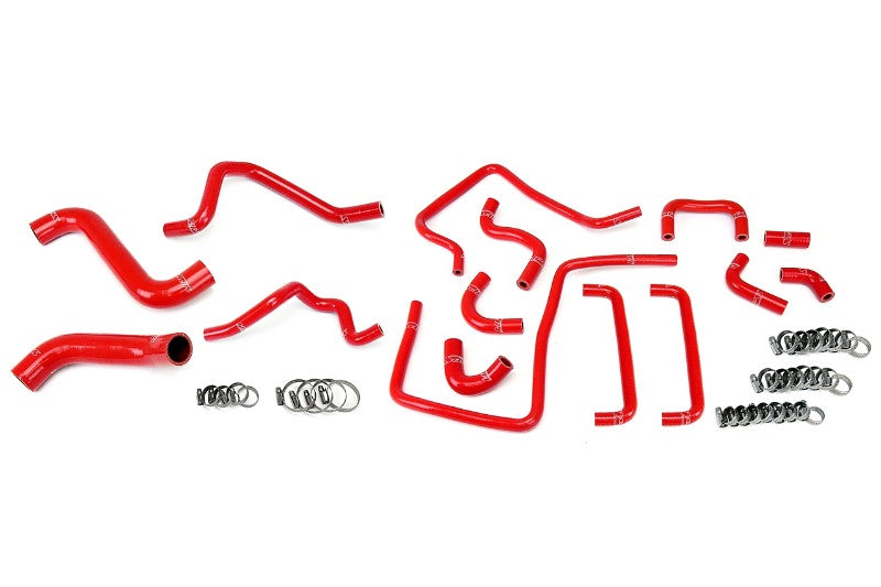 HPS Red Silicone Radiator Heater/Ancillary Hose Kit for Subaru 06-07 Impreza WRX STi-Hose Kits-BuildFastCar-57-1815-RED-2