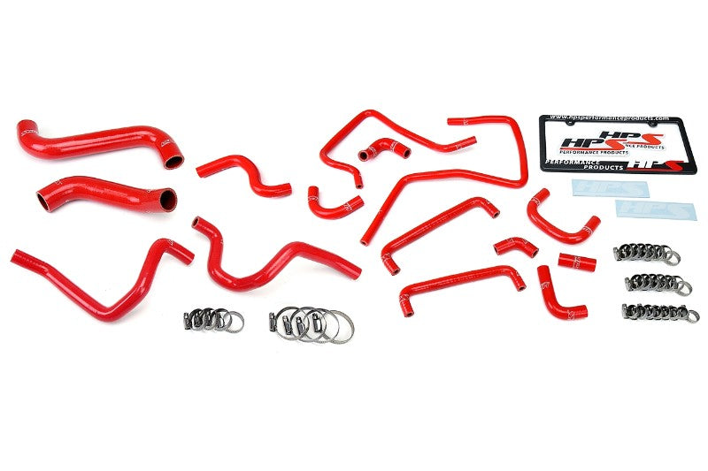 HPS Red Silicone Radiator Heater/Ancillary Hose Kit for Subaru 06-07 Impreza WRX-Hose Kits-BuildFastCar-57-1815-RED-1