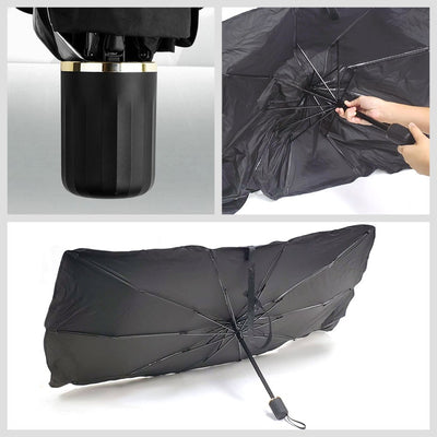 BFC Car Windshield Window UV Sun Shade Protect Heat Cover Umbrella+Carry Bag