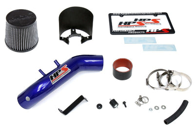 HPS Blue Shortram Air Intake Kit+Heatshield with Filter For 04-08 Acura TSX 2.4L-Air Intake Systems-BuildFastCar-827-122BL-1