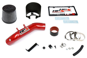 HPS Red Shortram Air Intake Kit+Heatshield with Filter For 04-08 Acura TSX 2.4L-Air Intake Systems-BuildFastCar-827-122R-1
