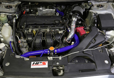 HPS Blue Shortram Air Intake Kit+Heatshield with Filter For 08-14 Mitsubishi Lancer 2.0L/2.4L-Air Intake Systems-BuildFastCar-827-162BL