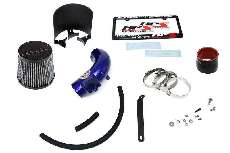 HPS Blue Shortram Air Intake Kit+Heatshield with Filter For 03-09 Mazda Mazda3 2.0L/2.3L-Air Intake Systems-BuildFastCar-827-165BL-1