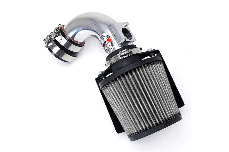 HPS Polish Shortram Air Intake Kit+Heatshield with Filter For 03-09 Mazda Mazda3 2.0L/2.3L-Air Intake Systems-BuildFastCar-827-165P-1