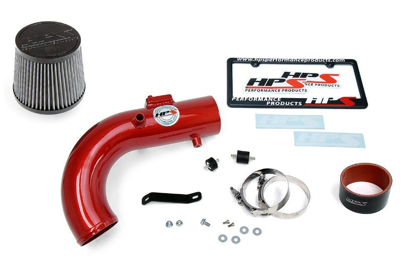 HPS Red Shortram Air Intake Kit with Filter For 11-16 Scion tC 2.5L-Air Intake Systems-BuildFastCar-827-508R