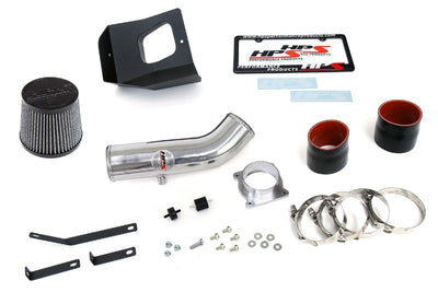 HPS Polish Shortram Air Intake+Heatshield with Filter For 03-06 Nissan 350Z-Air Intake Systems-BuildFastCar-827-520P