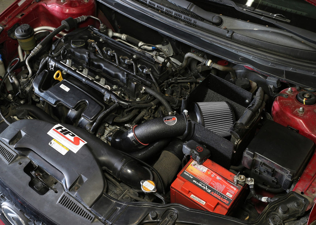 HPS Performance Black Shortram Air Intake for 2010-2013 Kia Forte 2.0L-Air Intake Systems-BuildFastCar-827-552WB-1
