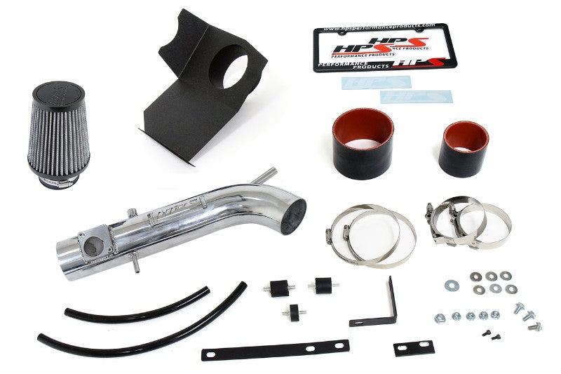 HPS Polish Shortram Air Intake Kit+Heatshield with Filter For 01-05 Lexus IS300 3.0L-Air Intake Systems-BuildFastCar-827-590P