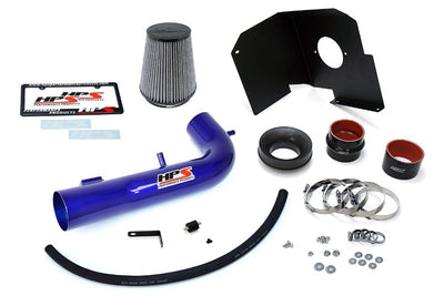 HPS Blue Shortram Air Intake Kit+Heatshield with Filter For 15-18 Chevrolet Suburban 1500-Air Intake Systems-BuildFastCar-827-603BL-1