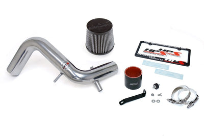HPS Polish Shortram Air Intake Kit with Filter For 13-17 Hyundai Veloster 1.6L Turbo-Air Intake Systems-BuildFastCar-827-605P