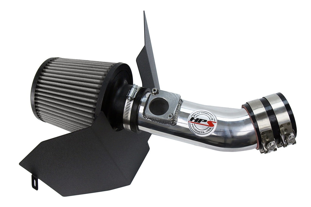 HPS Performance Polish Shortram Air Intake for 2002-2005 Subaru Impreza WRX 2.0L Turbo-Air Intake Systems-BuildFastCar-827-606P-3