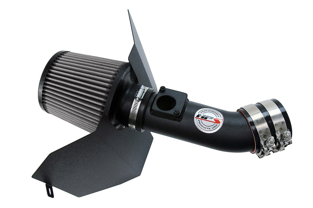HPS Performance Black Shortram Air Intake for 2004-2007 Subaru WRX STi 2.5L Turbo-Air Intake Systems-BuildFastCar-827-606WB-2