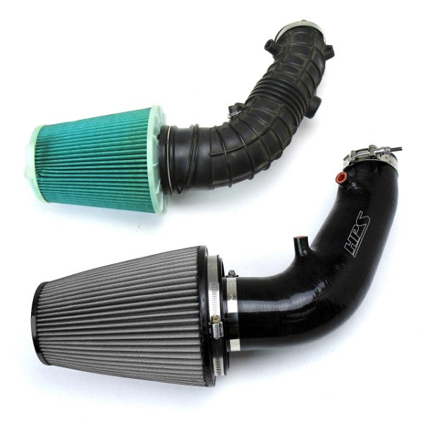HPS Black Silicone ReinForced Intake Hose For 06-09 Honda S2000 AP2 2.2L F22-Air Intake Systems-BuildFastCar-827-610WB