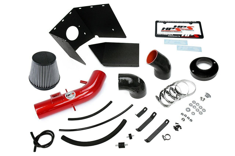 HPS Red Shortram Air Intake+Heatshield with Filter For 03-04 Lexus GX470 4.7L V8-Air Intake Systems-BuildFastCar-827-618R-2