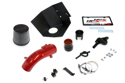 HPS Red Shortram Air Intake Kit+Heatshield with Filter For 17-18 Toyota Corolla iM 1.8L-Air Intake Systems-BuildFastCar-827-619R-3