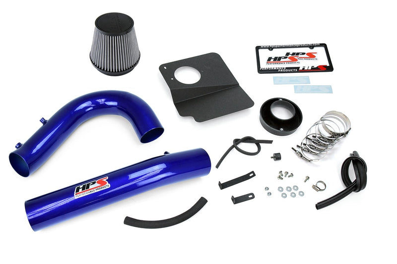 HPS Performance Blue Shortram Air Intake for 2011-2018 Dodge Charger 3.6L V6-Air Intake Systems-BuildFastCar-827-624BL-1