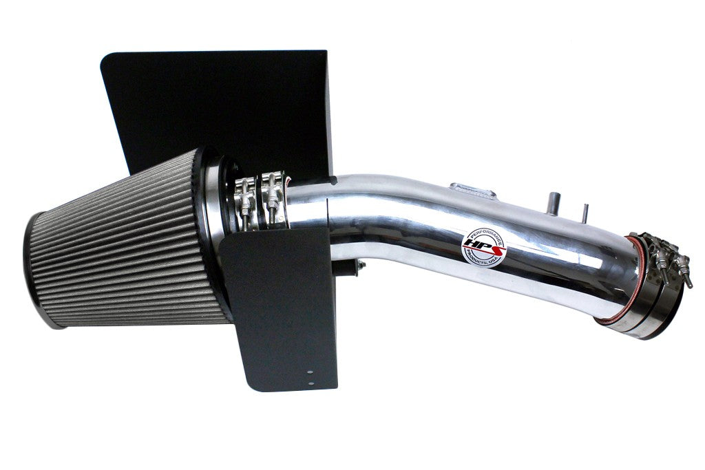 HPS Performance Polish Shortram Air Intake for 2007-2011 Toyota Tundra 5.7L V8-Air Intake Systems-BuildFastCar-827-629P-1
