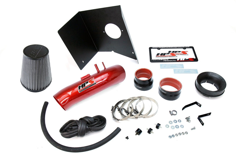 HPS Performance Red Shortram Air Intake for 2012-2019 Toyota Tundra 5.7L V8-Air Intake Systems-BuildFastCar-827-630R