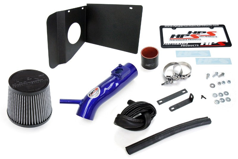 HPS Blue Shortram Air Intake Kit+Heatshield with Filter For 18- Toyota C-HR 2.0L-Air Intake Systems-BuildFastCar-827-631BL