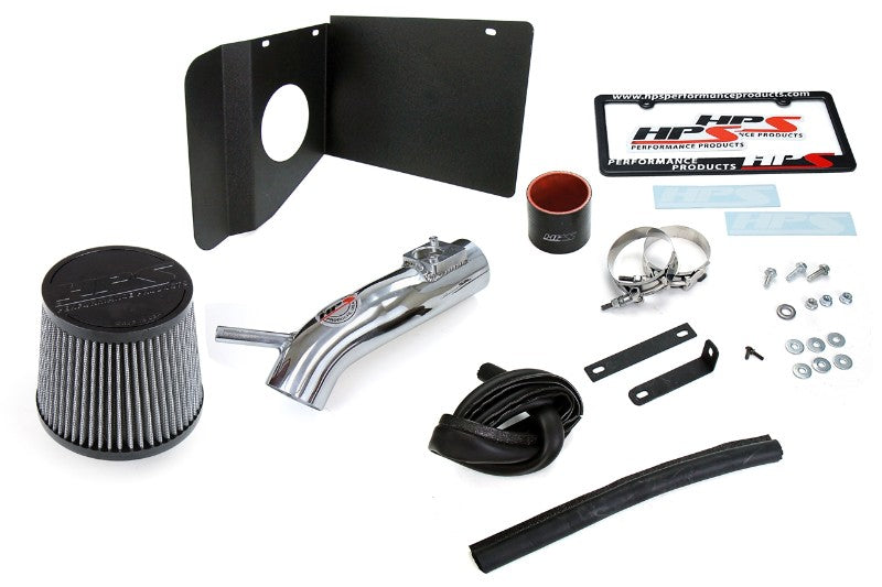 HPS Polish Shortram Air Intake Kit+Heatshield with Filter For 18- Toyota C-HR 2.0L-Air Intake Systems-BuildFastCar-827-631P