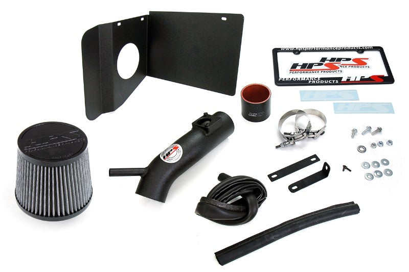 HPS Black Shortram Air Intake Kit+Heatshield with Filter For 18- Toyota C-HR 2.0L-Air Intake Systems-BuildFastCar-827-631WB