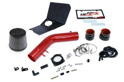 HPS Red Shortram Air Intake Kit+Heatshield with Filter For 95-99 Toyota Tacoma-Air Intake Systems-BuildFastCar-827-663R-1
