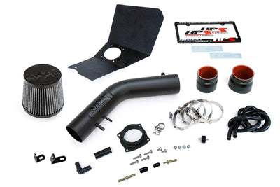 HPS Black Shortram Air Intake Kit+Heatshield with Filter For 95-99 Toyota Tacoma-Air Intake Systems-BuildFastCar-827-663WB-1