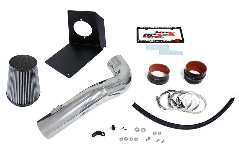 HPS Performance Polish Shortram Air Intake Kit for 2009-2014 Chevy Tahoe 4.8L 5.3L 6.2L V8 (Excludes Hybrid)