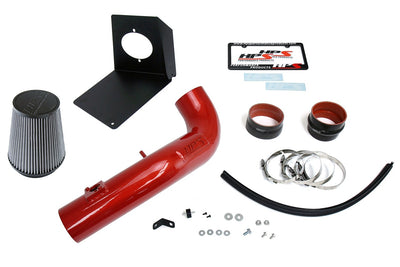 HPS Performance Red Shortram Air Intake Kit for 2009-2014 GMC Sierra 1500 4.8L 5.3L 6.0L 6.2L V8 (Excludes Hybrid)-Air Intake Systems-BuildFastCar