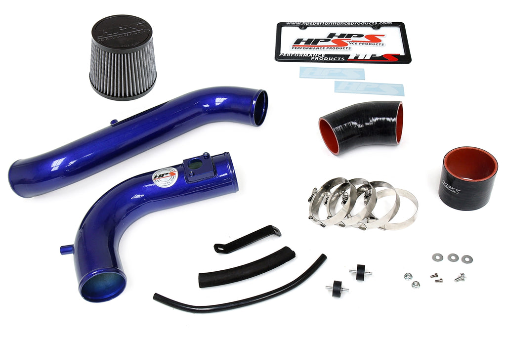 HPS Blue Cold Air Intake Kit with Filter For 08-12 Honda Accord 2.4L-Air Intake Systems-BuildFastCar-837-105BL-2