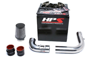 HPS Polish Cold Air Intake Kit with Filter For 15-18 Honda Fit 1.5L Manual Trans-Air Intake Systems-BuildFastCar-837-568P
