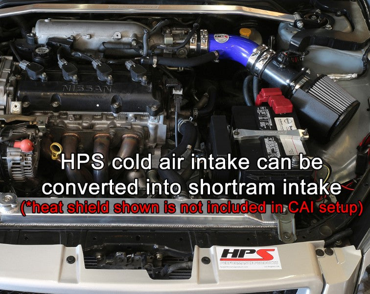 HPS Blue Cold Air Intake Kit with Filter For 02-06 Nissan Altima 2.5L 4Cyl-Air Intake Systems-BuildFastCar-837-570BL