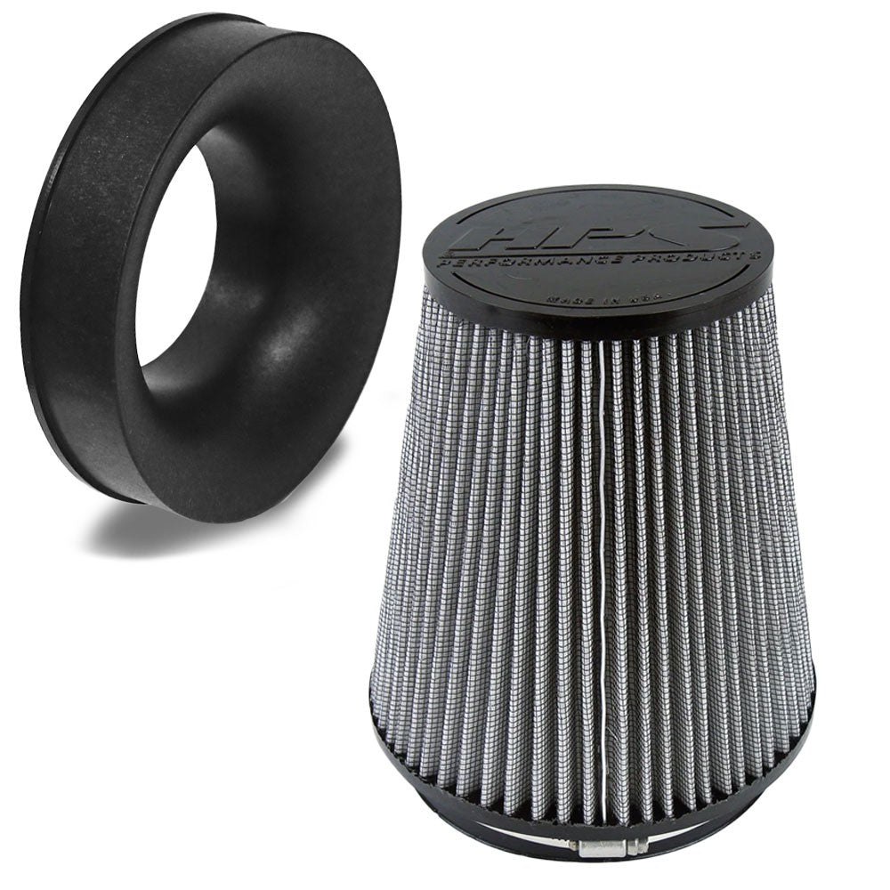 "HPS-4304 Woven Cotton 6"" Cone Air Filter+Velocity Stack"