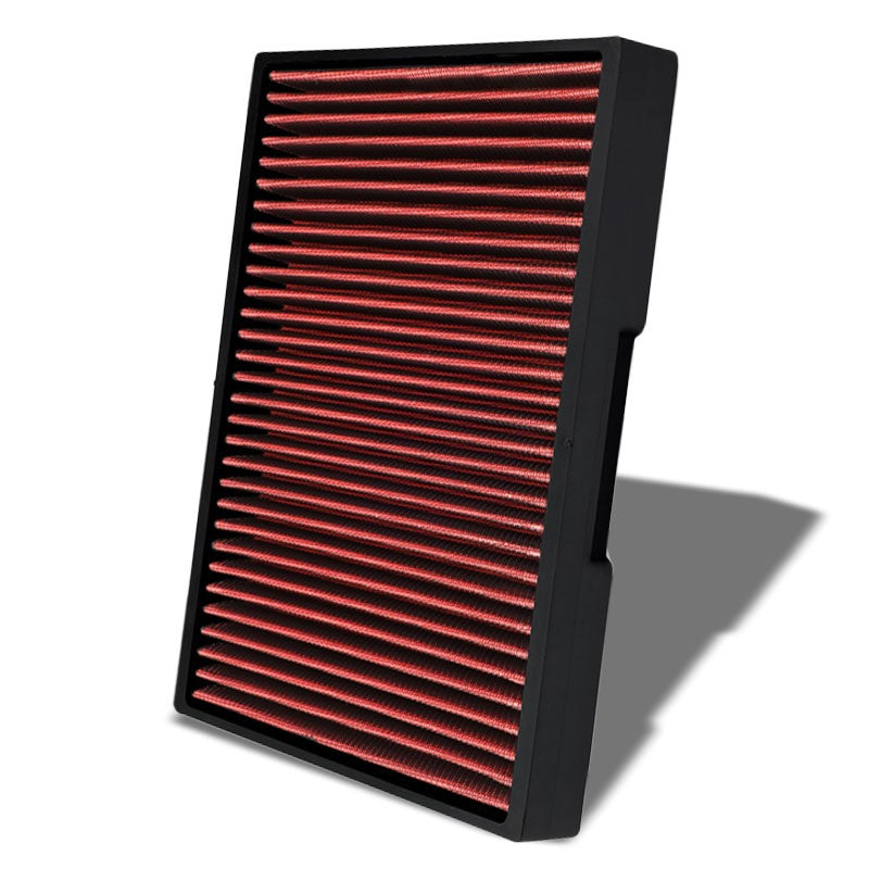 Red High Flow OE Style Drop-In Panel Cabin Air Filter For Audi/Seat/Volkswagen-Interior-BuildFastCar