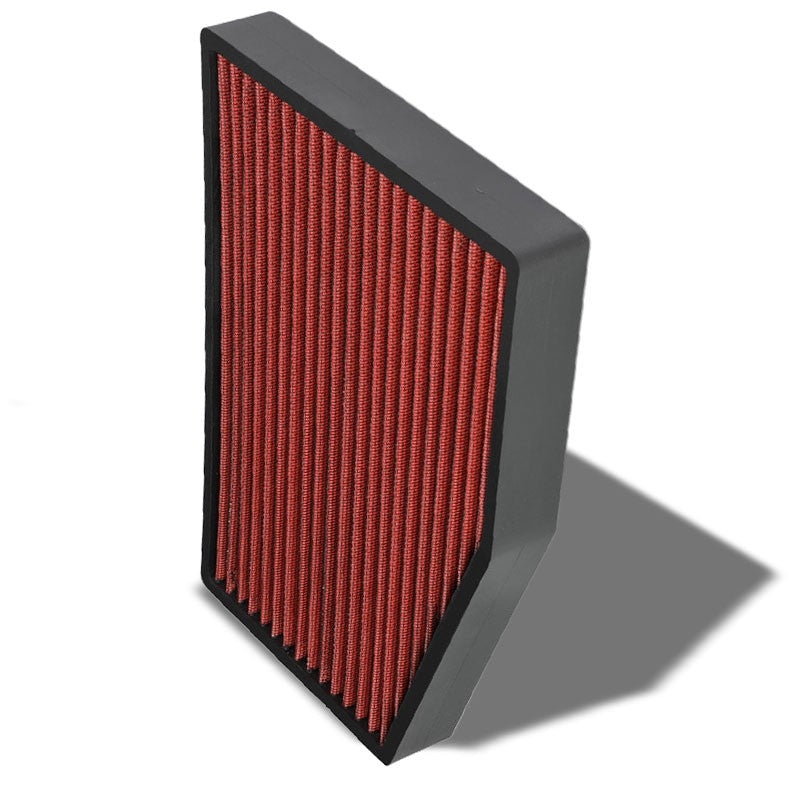 Red High Flow OE Style Drop-In Panel Cabin Air Filter For Audi/Volkswagen R32-Interior-BuildFastCar