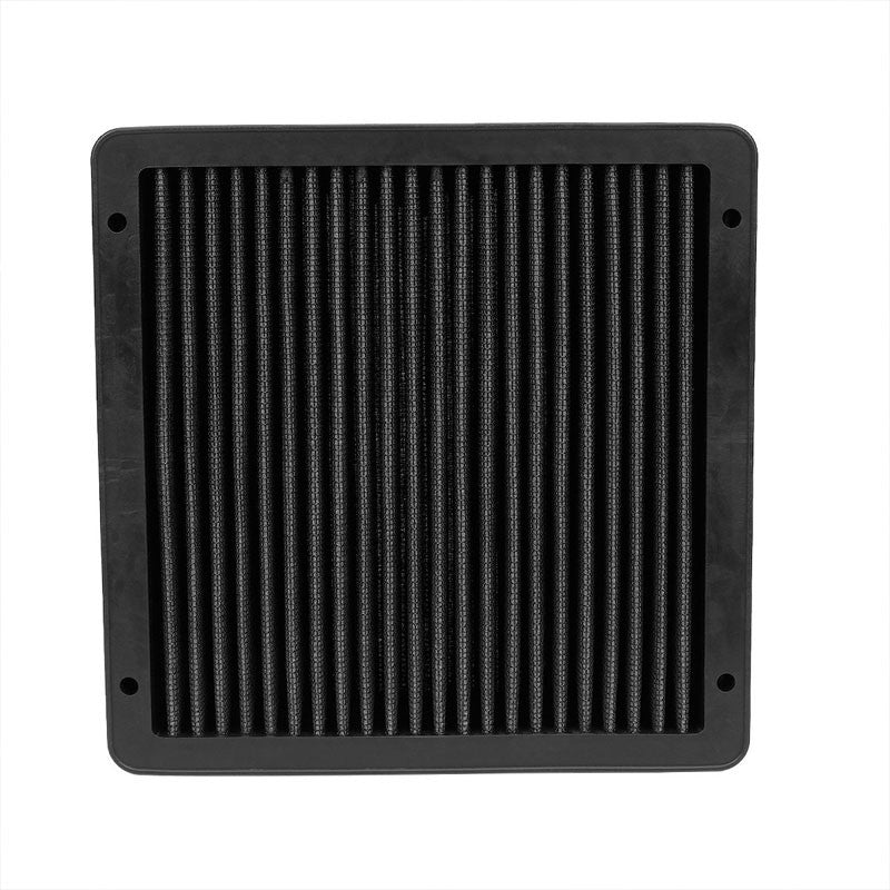 Black High Flow Performance Washable Drop-In Panel Air Filter For 02-07 Lancer-Performance-BuildFastCar