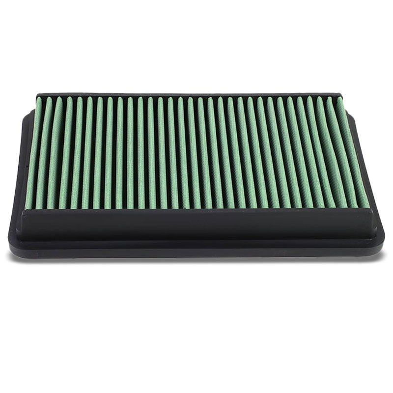 Green High Flow Direct Replacement Drop-In Panel Air Filter For 05-09 Tucson-Performance-BuildFastCar
