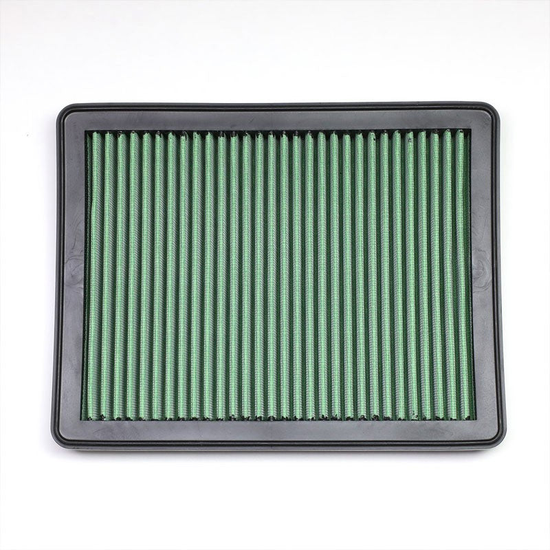 Green High Flow Wash/Reusable OE Drop-In Panel Air Filter For 08-12 Accord V6-Performance-BuildFastCar