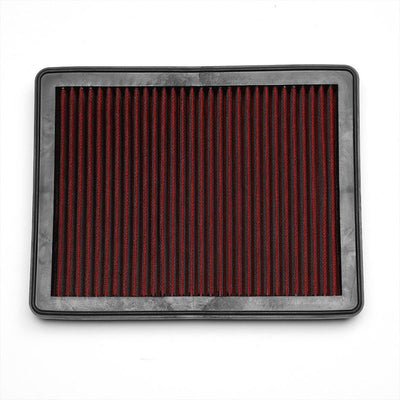 Red High Flow Cotton Washable Drop-In Panel Air Filter For 08-12 Accord V6-Performance-BuildFastCar