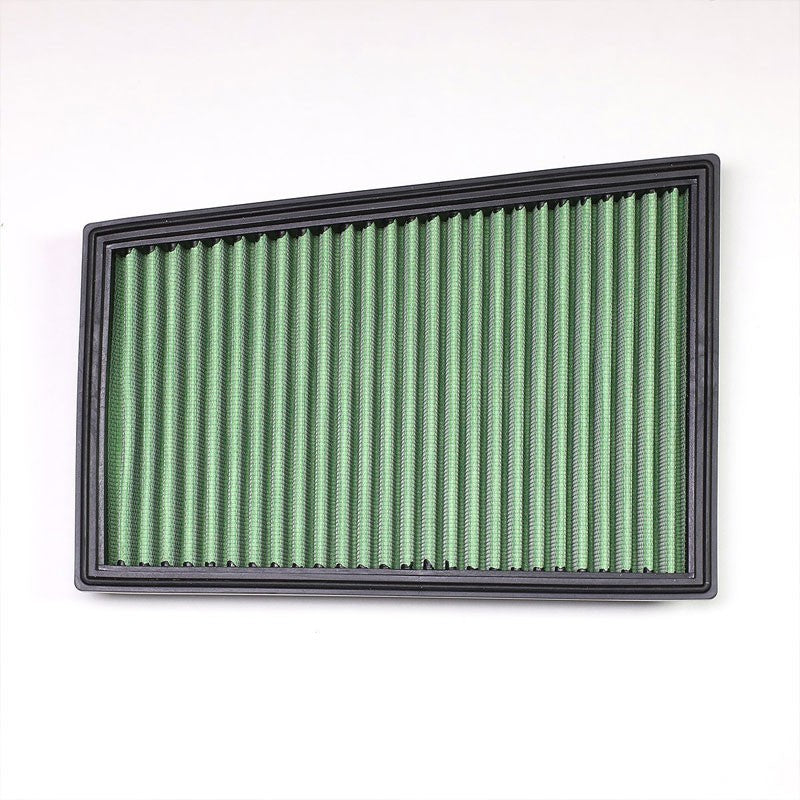 Green High Flow Replacement OE Drop-In Panel Air Filter For 11-15 Renault Koleos-Performance-BuildFastCar
