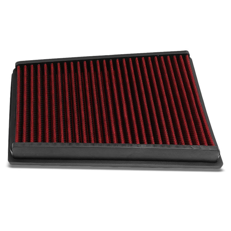 Red High Flow Cotton OE Style Drop-In Panel Air Filter For 07-13 Nissan Qashqai-Performance-BuildFastCar