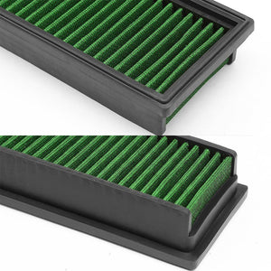 Green High Flow Cotton Airbox OE Drop-In Panel Air Filter For 12 Citroen C4L-Performance-BuildFastCar