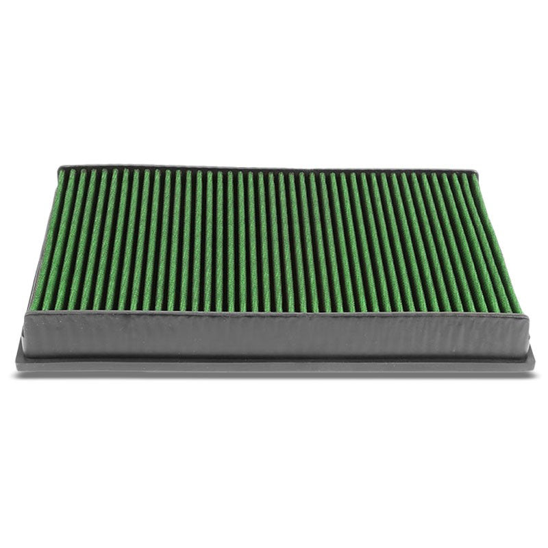 Green High Flow Cotton Washable Drop-In Panel Air Filter For 12-17 Passat 3.6L-Performance-BuildFastCar