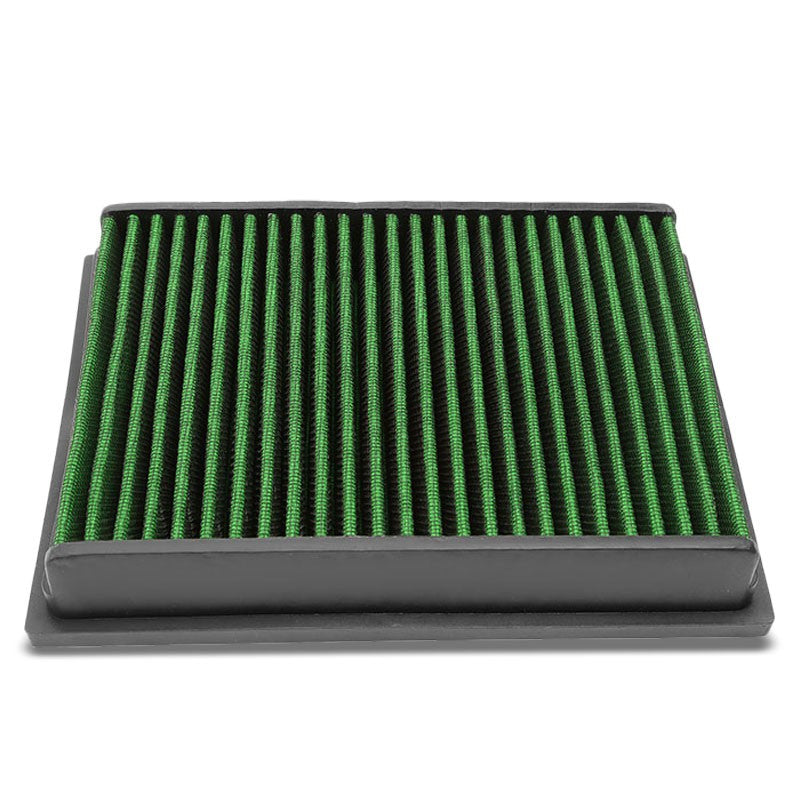Green High Flow Replacement OE Drop-In Panel Air Filter For 04-11 Benz A200-Performance-BuildFastCar