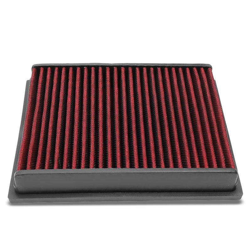 Red High Flow Washable/Reusable Drop-In Panel Air Filter For 04-11 Benz A200-Performance-BuildFastCar